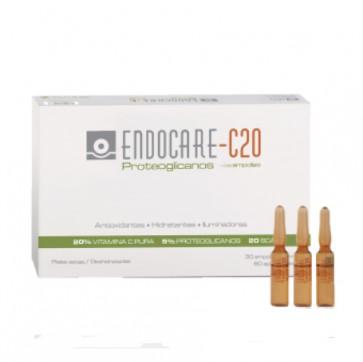 Endocare 1 Second C20 Proteoglicanos 30 Ampollas - Para Arrugas, Pieles Secas y Deshidratación