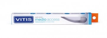 Cepillo Dental Vitis Medio Access - Elimina Eficazmente la Placa Dental - Dureza Media