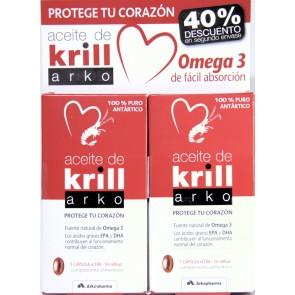 Aceite de Krill Arko Pack 2x15 comprimidos diarios - Protege Corazón - Fuente Natural Omega 3
