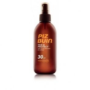 Piz Buin Tan& Protec Oil Spray SPF 30 150 ML - Hidratación, Bronceado, Larga Duración