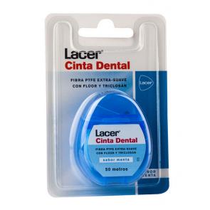 Cinta Dental Lacer Extra Suave Sabor Menta 50 m - Seda Dental, Fluor, Triclosan