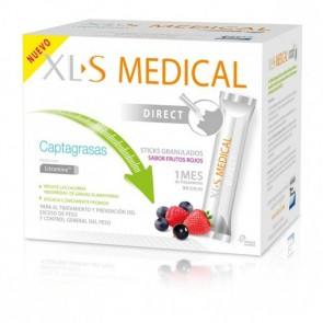 XLS Medical Direct 90 Sticks - Captagrasas - Ayuda para Adelgazar - Sabor Frutos Rojos