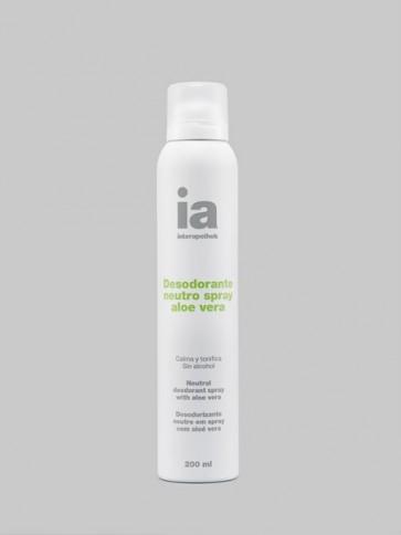 Desodorante Spray 200 ml Neutro con Aloe Vera de Interapothek - Calma y Tonifica la Piel