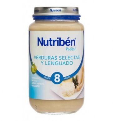 Nutribén Junior Lenguado y Verduras 200 g - Papilla Bebés + 8 Meses