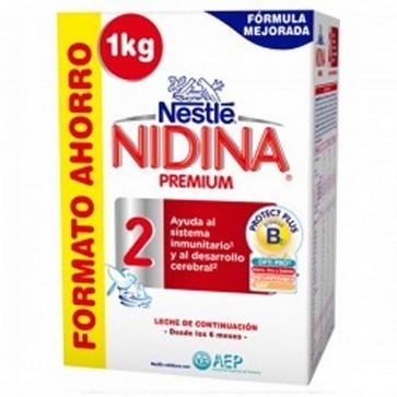Nidina Premium 2 Leche de Continuación 1kg - A Partir de 6 Meses - Ayuda al Sistema Inmunitario y al Desarrollo Cerebral