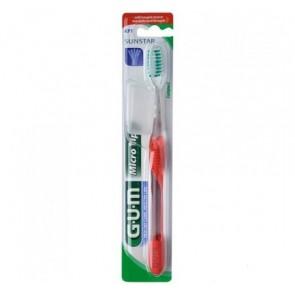 Cepillo Dental Adulto Microtip GUM  473 Compacto Textura Normal - Higiene Bucal Adulto