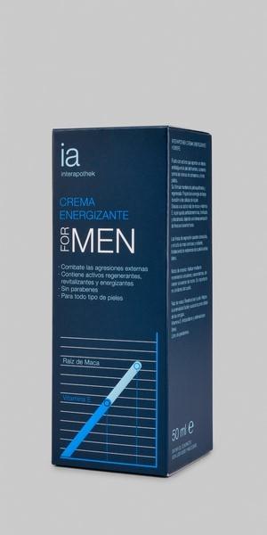Crema Energizante for Men 50 ml de Interapothek - Combate la Fatiga y Revitaliza la Piel de tu Rostro