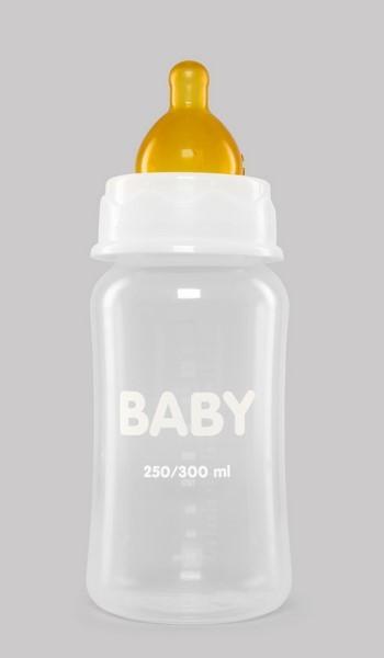 Biberón 250/300 ml de Boca Ancha con Tetina de Caucho Natural de Interapothek - Alimentación Bebés