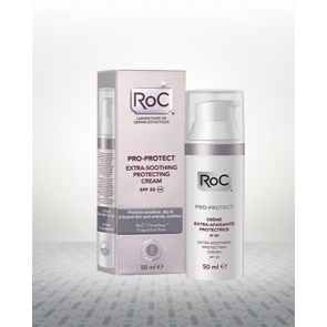Roc Pro-Protect Crema Protectora Extra-Calmante SPF 50 50 ml - Calma la Piel Sensible e Irritada