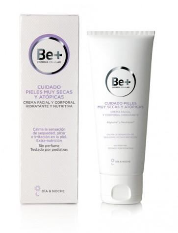 Comprar be+ crema pieles secas o atópicas. Esta crema hidrata en profundidad y suaviza las pieles muy secas.