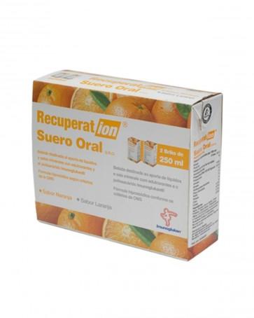 Recuperation Suero Oral Naranja 2 x 250 Ml - Restablece el Equilibrio Hídrico y Electrolítico, Diarreas, Vómitos