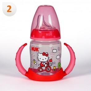 Biberon Nuk Entrena Hello Kitty Rojo Silicona 150 ml +6 meses - El Primer Vaso para el Bebé