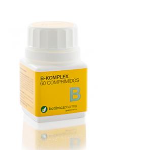 B Komplex 500mg 60 Comprimidos Botanicapharma - Deficiencia de Vitaminas del Grupo B, Dolores Musculares y Estado Anímico bajo, Cansancio