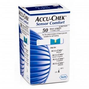 Accu Check Sensor Comfort Tiras Reactivas 50uds. - Recambio Tiras Medidoras de Glucosa
