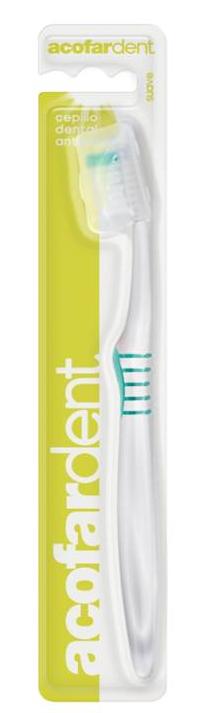 Acofar CEPILLO DENTAL suave para adulto - limpieza dental, antiplaca, placa bacteriana