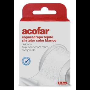 Acofar Esparadrapo Tejido sin Tejer Blanco 5x5 cm - Botiquín, Vendaje