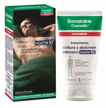 Somatoline Cosmetic Hombre Noche 150 ml - Tratamiento Intensivo - Reducir Grasa Localizada