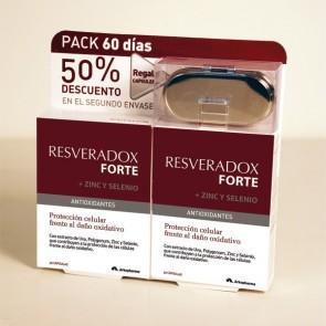 Resveradox Forte con Zinc y Selenio Pack 2 x 30 cápsulas - Antienvejecimiento
