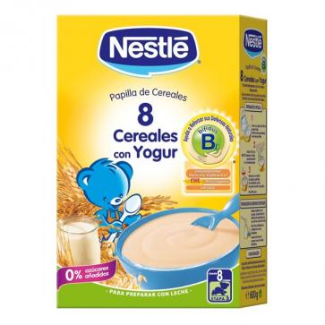 Nestle 8 Cereales Yogur 600 gr - Papillas de Cereales