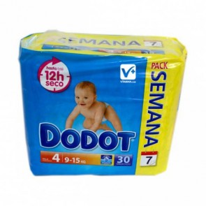 Pañal Dodot Primeros Pasos 30 Uds Talla 4 - Pañal Infantil para Bebés de 9-15 kg
