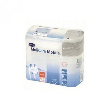 Molicare Mobile Ropa Interior Masculina Desechable para Pérdidas leves de Orina - Talla Mediana 14 Unidades Anatómica y Elástica