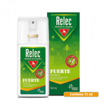 Relec Fuerte Sensitive Spray 75 ml - Repelente de Mosquitos Uso Diario para Pieles Sensibles