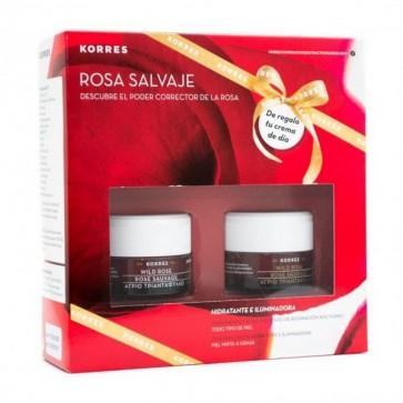 Korres Pack Rosa Salvaje para Piel Mixta a Grasa - Crema de Noche y Crema de Día