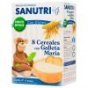Sanutri 8 Cereales Galletas María Bif 600gr - Papilla de Bebé