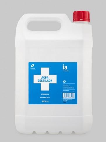 Agua Pura Destilada 5 Litro de Interapothek - Formato Familiar- Sin Minerales Desionizada No Inyectable