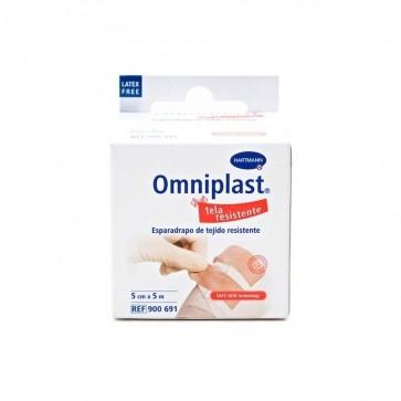 Esparadrapo Omniplast Rosa 5 m x 5 cm - Adhesivo Sintético Hipoalergénico de Gran Resistencia Repelente al Agua