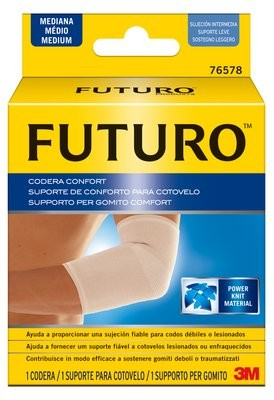 Codera Comfort Lift 3M Futuro Talla M - Sujeción Fiable y Cómoda para Codos Débiles o Lesionados