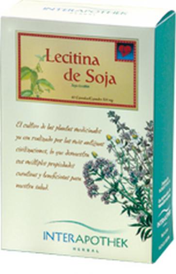 Lecitina de Soja 60 Cápsulas 500 mg de Interapothek - Antioxidante Natural que Combate el Colesterol