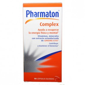 Pharmaton Complex 90 Cápsulas Blandas - Suplemento Vitaminico, Energía, Vitalidad