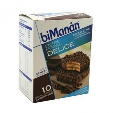 Bimanán Entre Horas Bombón Crujiente 10 U - Rico en Fibra, Vitaminas y Minerales, 59 kcal por Bombón