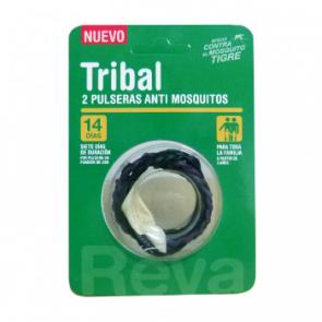 Tribal Pulsera Repelente Mosquitos 2 Unidades