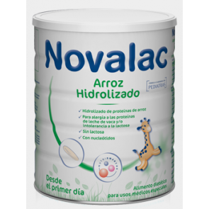Novalac arroz hidrolizado 400g - leche sin lactosa, lactantes