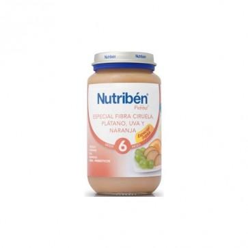 Nutriben Potito Fibra Ciruela Platano Uva Naranja 250 gr - Sin Gluten Bebés +6 meses