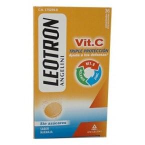Leotron Vitamina C 36 Comp. Efervescentes - Sin Azúcar, Sabor Naranja