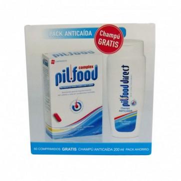 Pack Anticaída Pilfood Complex Cabellos y Uñas 60 Comprimidos + Regalo de Champú Anticaída 200 ml