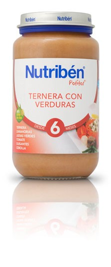 Nutribén Potito Grandote Ternera con Verduras 250 Gr