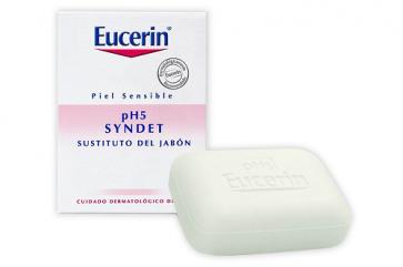 Eucerin Jabón Syndet Piel Sensible pH5 100 gr - Limpieza diaria Facial, Corporal