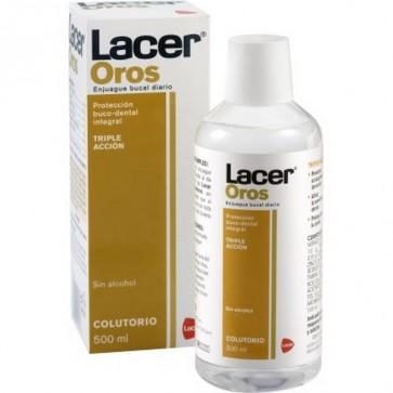 Lacer Colutorio Oros 500 ml - Para Afecciones Bucales con Flúor y Triclosán