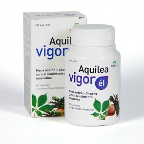 Aquilea Vigor Él 60 Cápsulas - maca andina, ginseng rojo, zinc