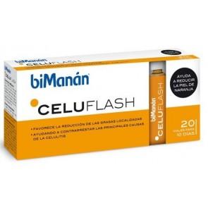 Bimanán Celuflash 10 Ml 20 Viales - Ayuda a Reducir Grasa Localizada, Anticelulítico