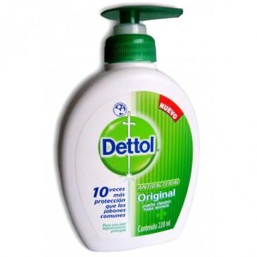Dettol Jabón de Manos Antibacteriano 250 ml - Bacterias, Aloe Vera y Proteínas de Leche