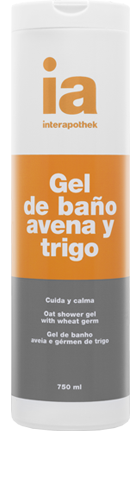 Gel de Ducha 750 ml Avena y Germen de Trigo Interapothek - Para Todo Tipo de Pieles Cuida y Calma