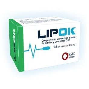 Lipok 30 Cápsulas 825 mg