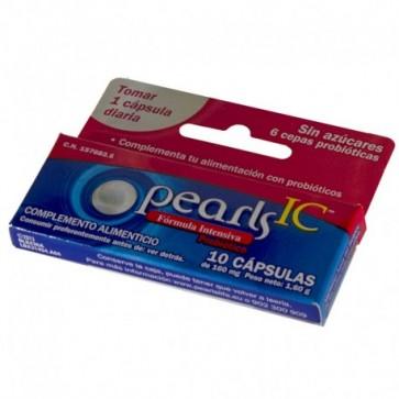 Pearls IC Cuidado Intensivo Probiótico 10 Cápsulas - Ayuda al Funcionamiento Aparato Digestivo e Intestinal
