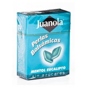 Juanola Perlas Balsámicas Mentol Eucalipto Sin Azúcar 25 gr