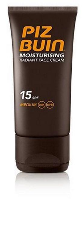 Crema Facial Piz Buin Protección Solar Hidratante Moisturising Factor SPF 15 50 ml  - Hidrata y Protege la Piel